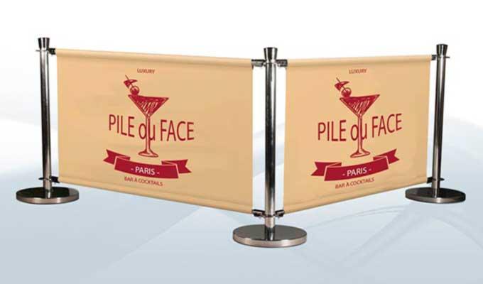 Impression bache banderoles publicitaires sur mesure pas for Impression bache