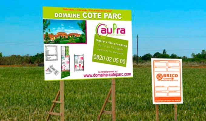 Panneaux de chantier impression panneau publicitaire de for Panneau publicitaire exterieur pas cher
