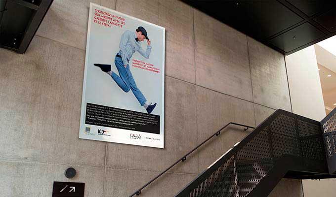 Affiche publicitaire métro