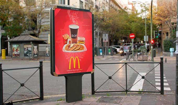 Affiche économique Decaux ville