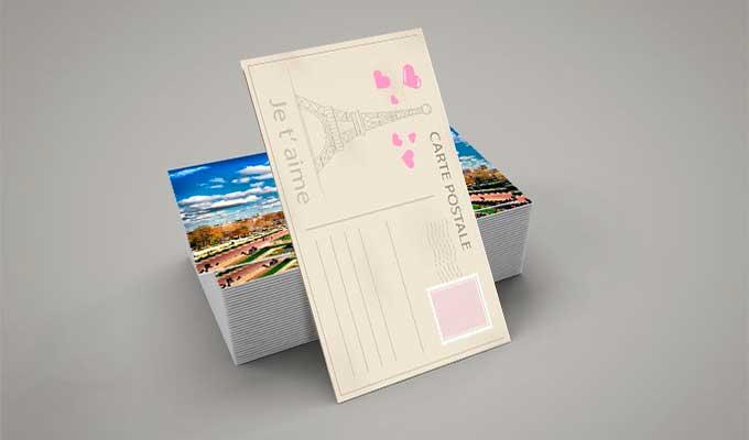 Impression en ligne de cartes postales