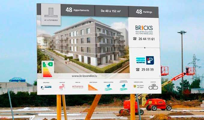 Panneaux de chantier impression panneau publicitaire de for Panneaux publicitaires exterieur