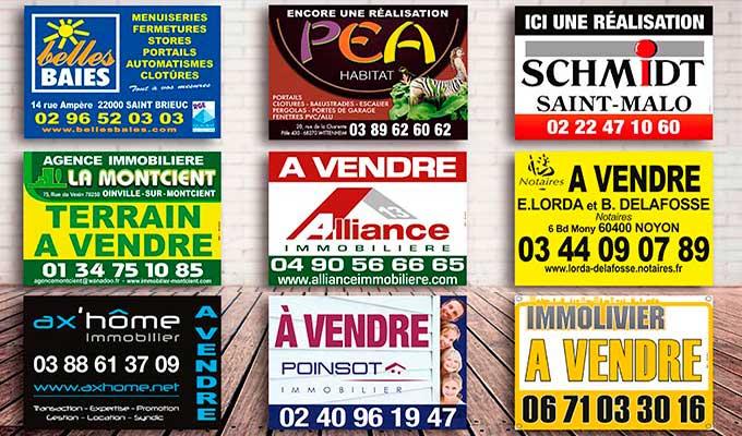 Impression de panneaux akilux panneau akylux for Pancarte publicitaire exterieur