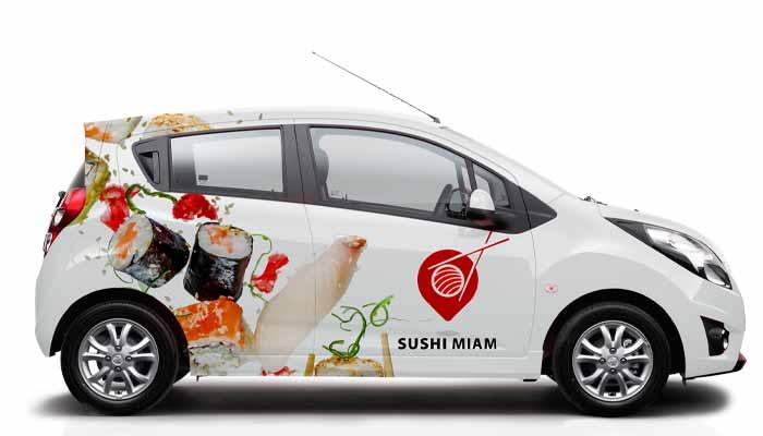 Autocollant personnalisé voiture sur mesure, véhicule publicitaire stickers