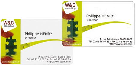 Cartes Plastiques PVC Blanc Et Translucides