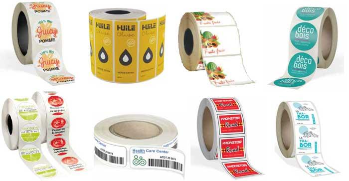 Etiquettes à fonction en bobine de qualité pas cher