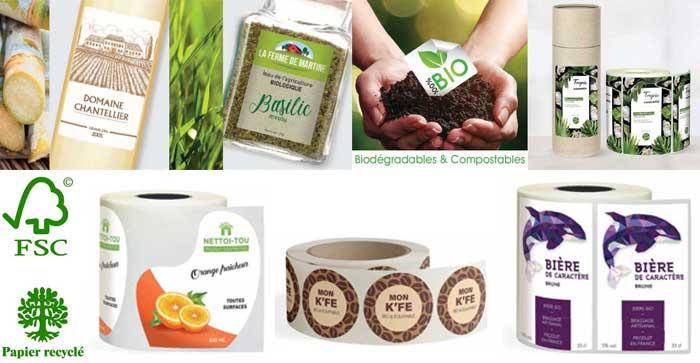 Etiquettes en rouleau écologiques personnalisées par cher