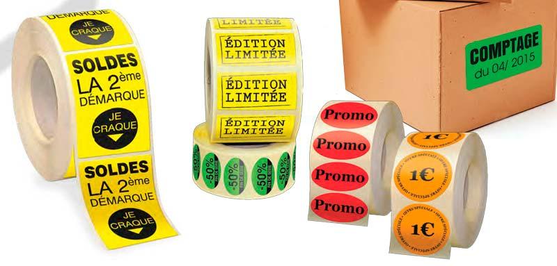 Top Etiquettes : imprimez une très large gamme d'étiquettes à petits prix. PV26