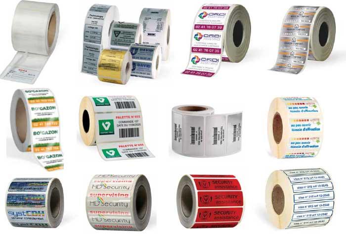 Etiquettes industrielles et de sécurité en rouleau de qualité pas cher