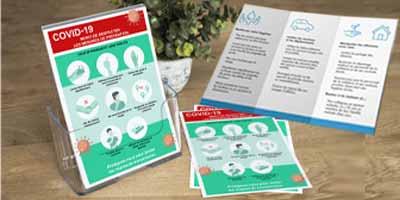 Information crise sanitaire coronavirus flyers, dépliants et brochures