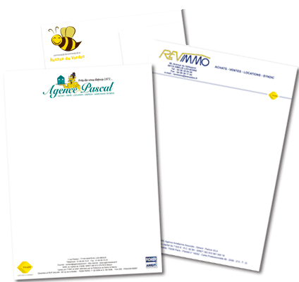T te de lettre impression papier ent te personnalis for Micro entreprise idee